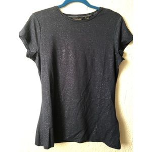 🆕 Ted Baker Navy Sparkle ✨ Fitted T Shirt NWOT